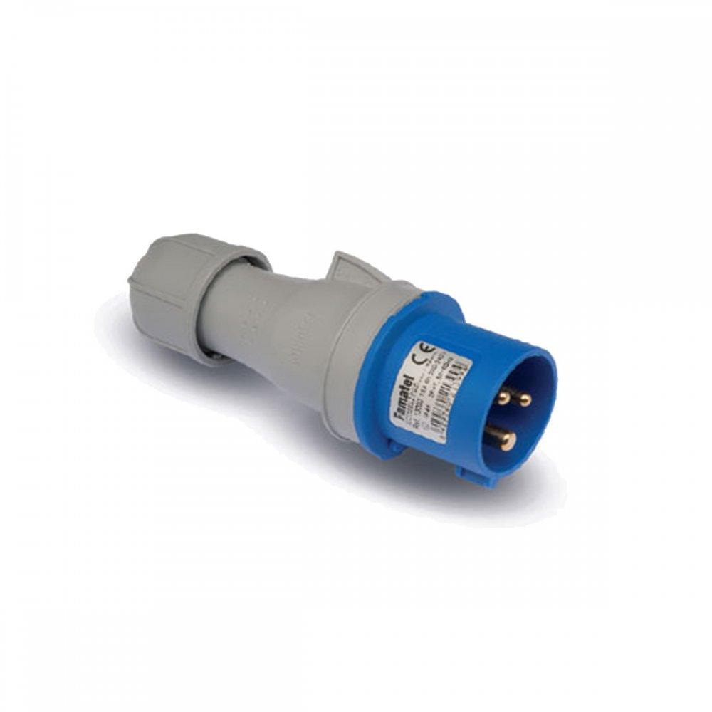 Clavija 2P+T 32A 220-240V IP-44 FAMATEL 13203