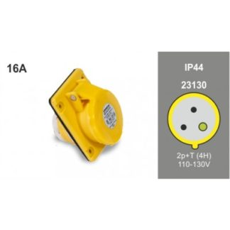 IP44 angled panel socket